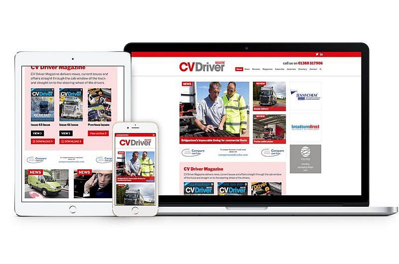 CV Driver website mockup