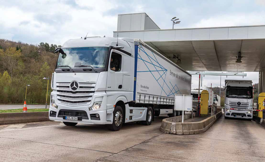 Commercial Vehicle Driver MagazineJune 2019 Cam in the mirror Mercades Benz Actros Review Test Drive Image