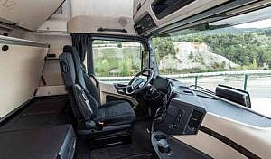 Commercial Vehicle Driver MagazineJune 2019 Cam in the mirror Mercades Benz Actros Review Cab Image